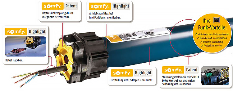 Somfy Oximo Rts 15 17 Funk Rollladenmotor Telis Rts 1
