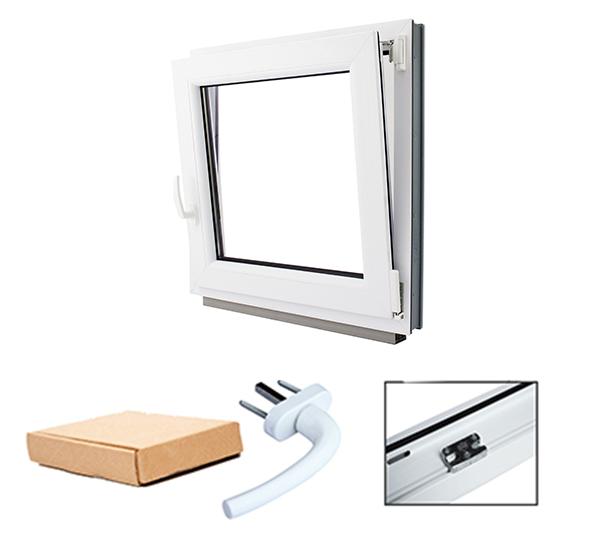 Kellerfenster garagenfenster kunststoff fenster weiss unterschiedliche massen ebay for Kunststofffenster kellerfenster