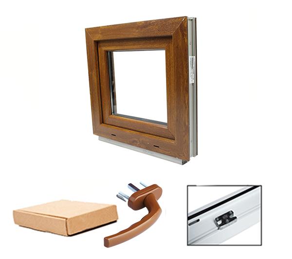1 fl gler pvc fenster golden oak farbe aussen 2 fach for Wohnraumfenster kunststoff