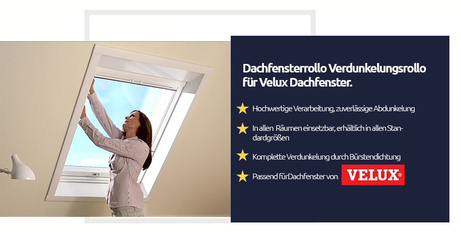 verdunkelungsrollo f r die fenster velux rollo 100. Black Bedroom Furniture Sets. Home Design Ideas