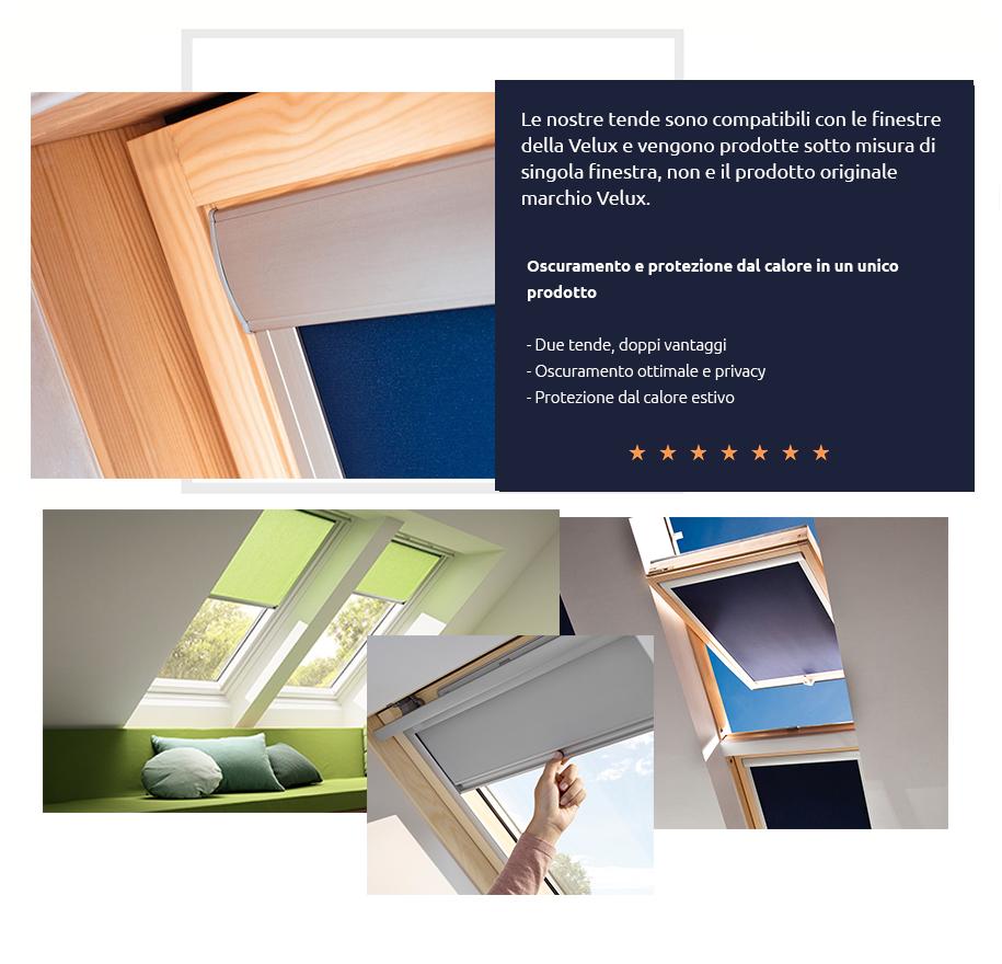 Velux tenda per finestre da tetto velux varie misure e for Finestre velux misure standard